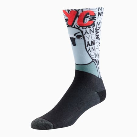 Unisex Crew Socks [1 Pair], BLACK / RED, small
